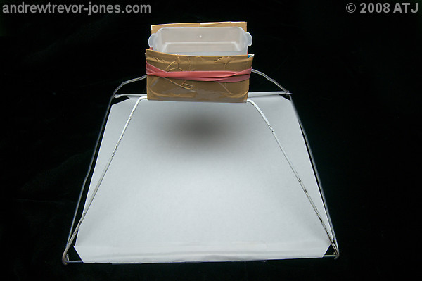 Softbox mounted on flash diffuser