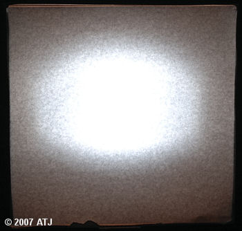 Softbox showing distribution of light